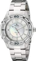 Bulova Women's 96L145 Solano Marine Star Mother of Pearl Watch