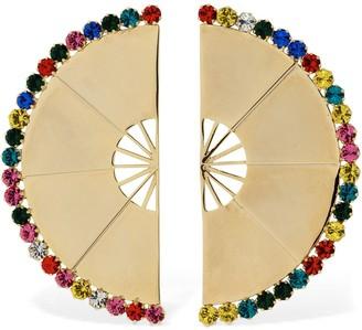 ROWEN ROSE Multicolor Maxi Fan Clip-on Earrings