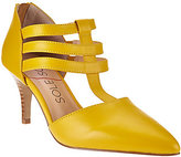 Sole Society As Is Leather Triple T-strap Pumps - Mallory