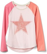 Gap Embellished graphic colorblock tee