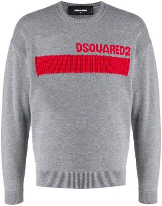 DSQUARED2 Jacquard-Logo Jumper
