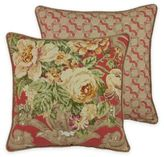 Rose Tree Durham Square Throw Pillow in Coral