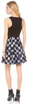 Tibi Rococo Check Sleeveless Dress