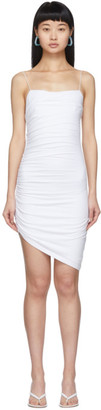 Alexander Wang White Compact Jersey Mini Dress