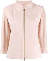 Herno suede zip-up jacket
