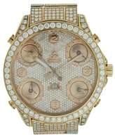 Jacob & co 5 Time Zone with Date 18K Rose Gold Diamonds 47mm Mens Watch