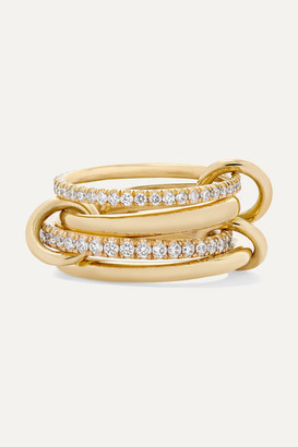 Spinelli Kilcollin Polaris Set Of Four 18-karat Gold Diamond Rings