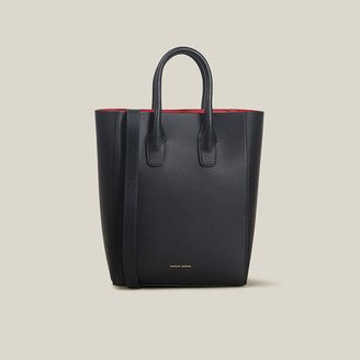 Mansur Gavriel Black Mini NS Leather Tote Bag One Size