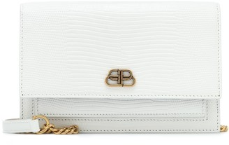 Balenciaga Sharp croc-effect leather shoulder bag