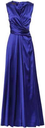 Talbot Runhof Wrap-effect Crepe-satin Gown