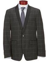 Murano Slim-Fit Shawl Collar Check Blazer