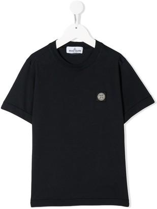 Stone Island Junior short sleeve logo patch T-shirt