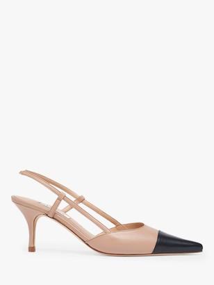 LK Bennett Hally Leather Kitten Heel Court Shoes