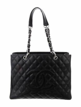 Chanel Caviar Grand Shopping Tote Black