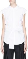 Alexander Wang Tie front side split wrap shirt