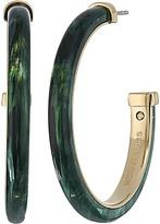 Michael Kors Autumn Luxe Acetate & Stainless Steel Hoop Earrings