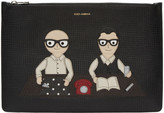 Dolce & Gabbana Black Designers Document Holder