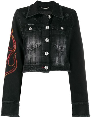 Philipp Plein Flame denim jacket