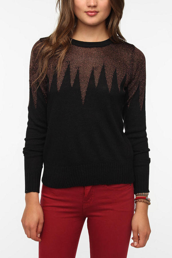 Urban Outfitters Lucca Couture Lurex Icicle Pullover