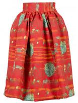 Stella Jean printed circle midi skirt
