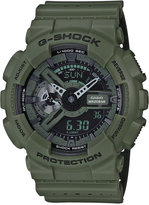 G-Shock Men's Analog-Digital Green/Black Dual Layer Resin Strap Watch 51x55mm GA110LP-3A