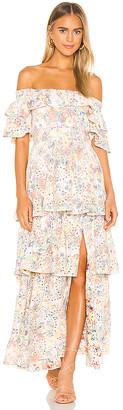 KENDALL + KYLIE Anglaise Maxi Ruffle Dress