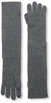 Sofia Cashmere Women's Turnback Gloves, Charcoal