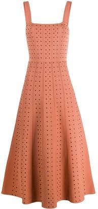 Stud-Embellished Knitted Dress