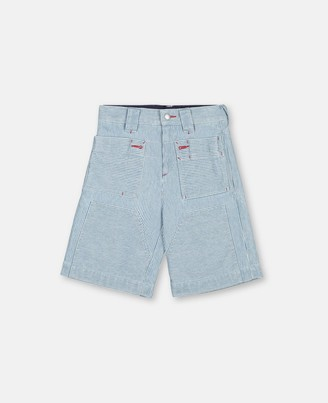 Stella Mccartney Kids Seersucker Cargo Shorts, Men's