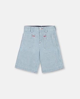 Stella McCartney seersucker cargo shorts