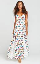 MUMU Nicole Maxi Dress ~ Butterflies in my Eyes Crinkle Stretch