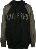 Juun.J Covered contrast sleeve hoodie - men - Cotton/Polyester/Viscose - 46