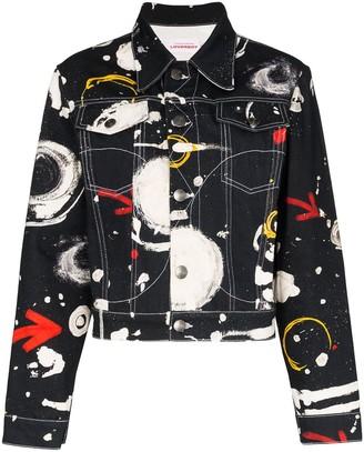 Charles Jeffrey Loverboy Asteroids Print Denim Jacket