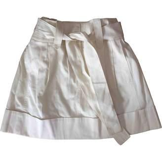 Philosophy di Alberta Ferretti White Cotton Skirts