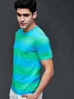 Gap Vintage wash multi color rugby stripe t-shirt