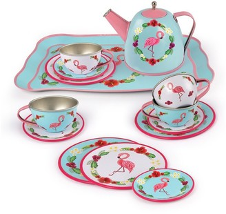 Playwell Tin Tea Set - Flamingo