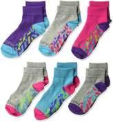 Fruit of the Loom Big Girl's 6 Pack Sport Ankle Socks