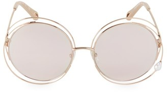 Chloé Carlina Pearl 58MM Round Sunglasses