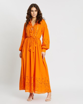 Y.A.S Rina Long Sleeve Maxi Dress