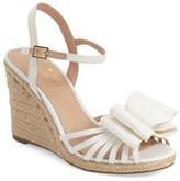 Kate Spade 'biana' grosgrain bow wedge sandal (Women)
