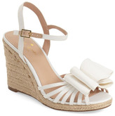 Kate Spade Biana Grosgrain Bow Wedge Sandal