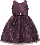 Sorbet Glitter Mesh Sleeveless Dress, Size 7-12