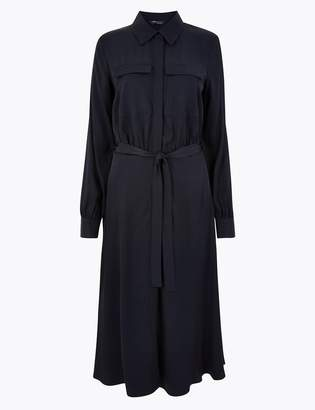 M&S CollectionMarks and Spencer Tie Front Shirt Midi Dress
