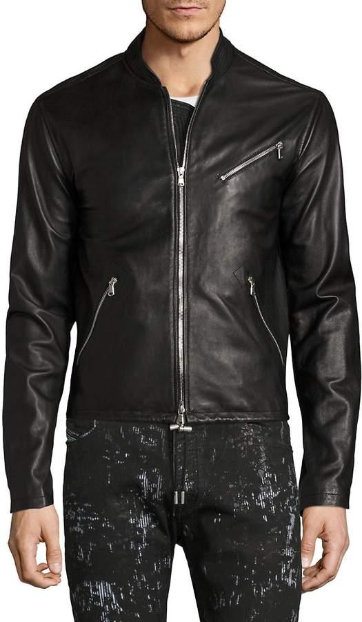 Diesel Black Gold Men's Lionel Leather Jacket