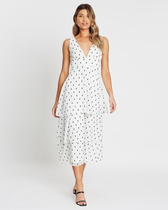 Atmos & Here Lani Tiered Midi Dress