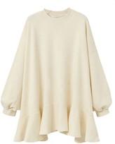 Goodnight Macaroon 'Kendall' Oversized Sweater Mini Dress Ruffle Hem (3 Colors)