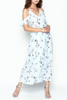 Lush Floral Woven Maxi Dress