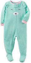Carter's Baby Girls' 1-Pc. Winky Bear Footed Pajamas