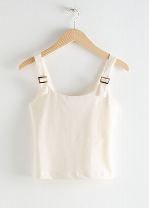 And other stories Square Buckle Strap Tank Top