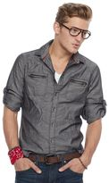 Rock & Republic Men's Herringbone Stretch Button-Down Shirt